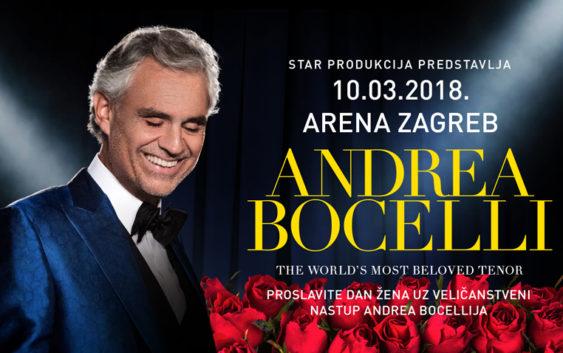 Najljepši dar za Dan žena – ekskluzivni nastup Andree Bocellija u zagrebačkoj Areni