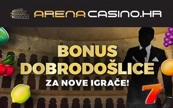 Online Arena Casino – bonus dobrodošlice