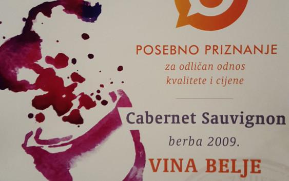 Beljski cabernet sauvignon najbolje hrvatsko crveno vino